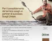 Per il consolidamento del terreno scegli un partner di successo. Scegli Uretek