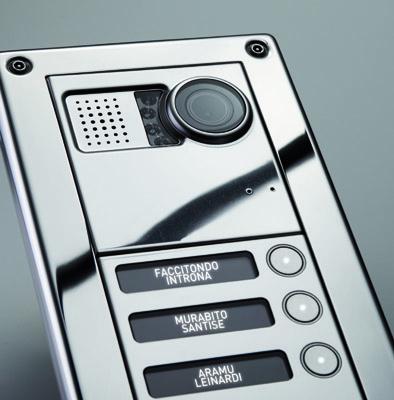 Sinthesi steel pulsantiera anti vandalo for Videocitofono condominiale