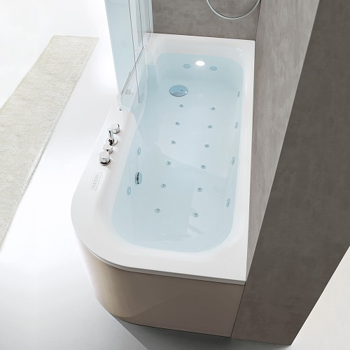Sistema combinato For All con vasca e cabina