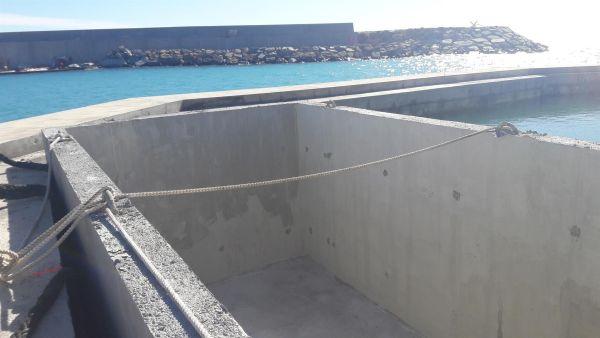 Nuovo Porto Ventimiglia, alloggiamento delle Vasche in mare