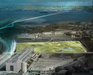 Vega Waterfront, la porta di terra