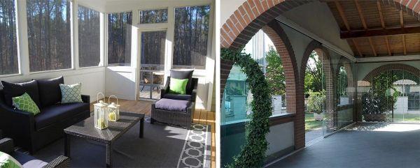 Trasformare il terrazzo o il portico in una veranda