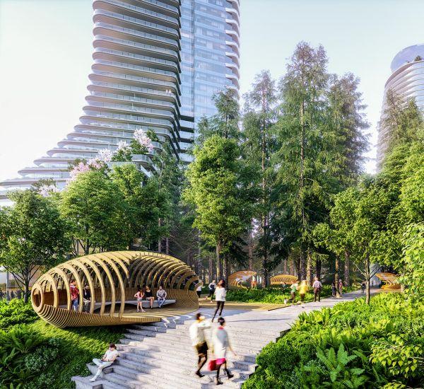 I 10 grattacieli di Vancouver Oakridge: residenze, attività commerciali e tanto verde