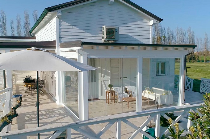 Verande per balconi con vetrata scorrevole