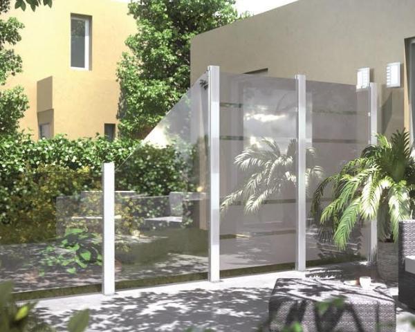 Frangivento in vetro la novit betafence per terrazze e - Barriere antirumore per terrazzi ...