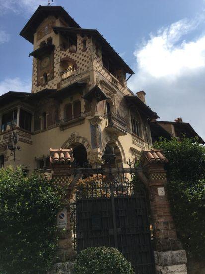 Il Villino delle Fate nel quartiere Coppedè a Roma