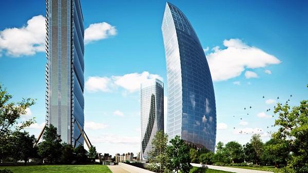 La Torre Libeskind con le altre due torri di CityLife