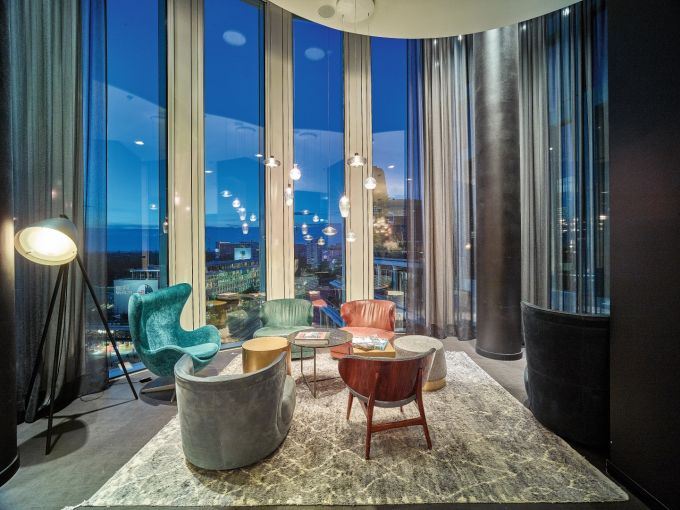 L'interno del Motel One Hotel a Berlino