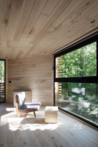 La casa sull'albero ORIGIN tree house, vista dalla vetrata