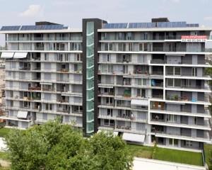Edificio residenziale rivestito con zinco titanio VMZINC