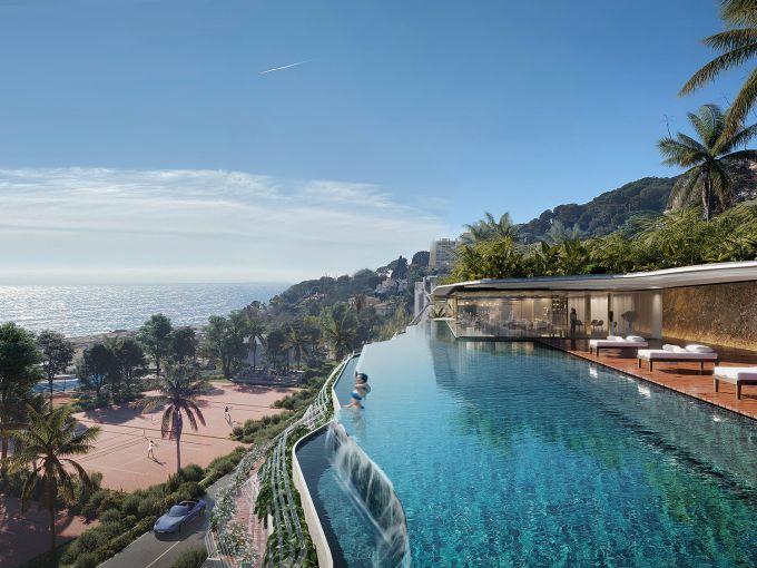 Infinity pool dellhotel La Voile Blanche