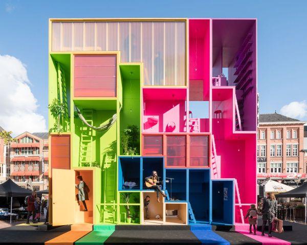 wego-house,  installazione dinamica per riflettere sul nuovo concetto di abitare.