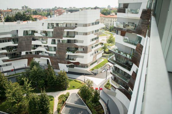 Pavimentazioni IPM Geodrena per l'esterno delle residenze zaha hadid in city-life a Milano
