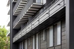 Edificio residenziale rivestito con zinco titanio VMZINC 2